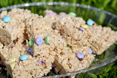 Take any excess Easter candy and mix it with marshmallows and Rice Krispies to make this delicious Easter treat. PHOTO BY BRITTANY RUESS
